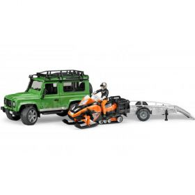 1/16 Land Rover Defender Station Wagon with Trailer, Snowmobile & man