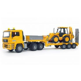 1/16 MAN TGA semi with Lowboy trailer & JCB Backhoe/Loader