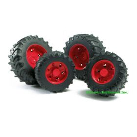 1/16 Accessory Dual Wheels red for 3000 Series Pro Tractors