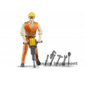 1/16 Man Construction Worker with accessories