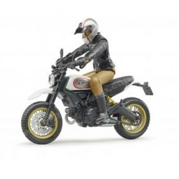 1/16 Scrambler Ducati Desert Sled with Rider
