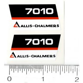 Decal 1/16 AC 7010 Model Numbers (Black Belly) (Pair)