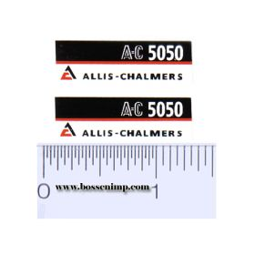 Decal 1/16 Allis Chalmers 5050 Model Numbers (pair)