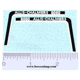 Decal 1/16 Allis Chalmers 6060 Hood Stripe
