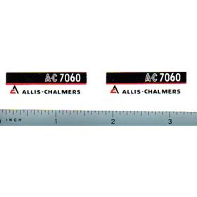 Decal 1/16 Allis Chalmers 7060 Model Numbers (maroon belly)