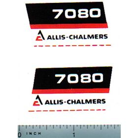 Decal 1/16 Allis Chalmers 7080 Numbers (black belly)