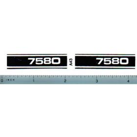 Decal 1/16 Allis Chalmers 7020 Model Numbers (white on black)
