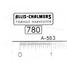 Decal 1/16 Allis Chalmers Forage Harvester 780 Set