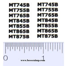 Decal 1/32 Challenger (Cat) Model Numbers