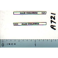 Decal 1/64 Allis Chalmers D-21 Set