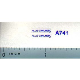 Decal 1/64 Allis Chalmers for WC (blue print on white border)