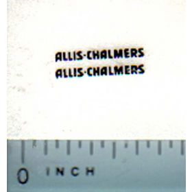 Decal 1/64 Allis Chalmers for WD-45 black on clear