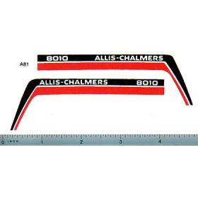 Decal 1/16 Allis Chalmers 8010 Hood Panel