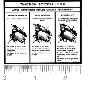 Decal Allis Chamlers WD, WD-45 Traction Booster for Pedal