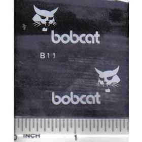 "Decal Bobcat Logo 1 1/4"" (white)"