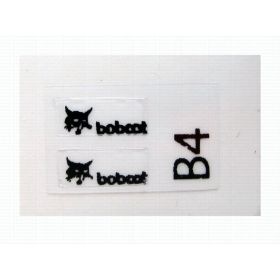 "Decal Bobcat Logo 1/4"" (Black)"