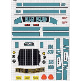 Decal 1/16 Big Bud 525/50 Blue