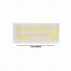 Decal 1/16 Cockshutt 20 Deluxe side panels Yellow