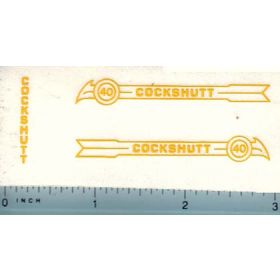 Decal 1/16 Cockshutt 40 (yellow)