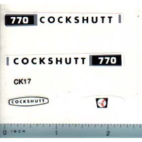 Decal 1/16 Cockshutt 770 Set