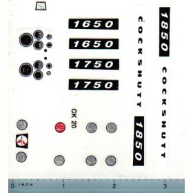 Decal 1/16 Cockshutt 1650, 1750, 1850 Set