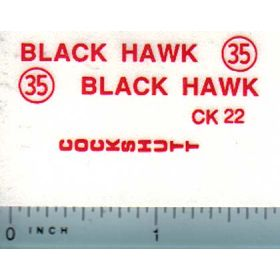 Decal 1/16 Cockshutt Black Hawk 35
