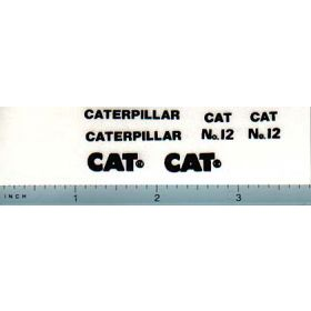Decal 1/16 Caterpillar No 12 Grader Set (black)