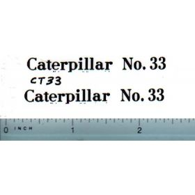 Decal 1/16 Caterpillar No. 33 (black)