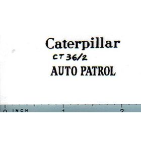 Decal 1/16 Caterpillar Auto Patrol (black)