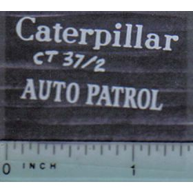 Decal 1/16 Caterpillar Auto Patrol (white)