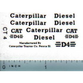Decal 1/16 Caterpillar D4 Set