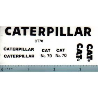 Decal 1/16 Caterpillar No. 70 Set