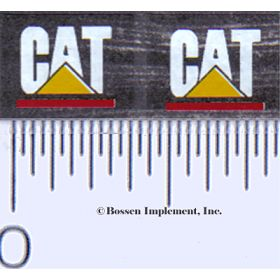 Decal CAT Logo (white, yellow triangle w/red)
