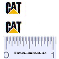 Decal CAT Logo (black, yellow trainagle)
