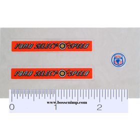 Decal 1/12 Ford Select-O-Speed Set w/Logo
