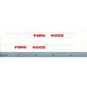 Decal 1/12 Ford 4000 Hood Only