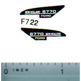 Decal 1/64 New Holland 8770 Hood Stripe