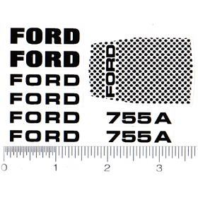 Decal 1/12 Ford Model 755A Decal set