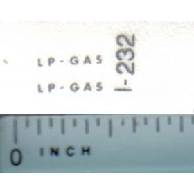 Decal 1/16 LP-Gas (silver print)