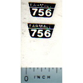 Decal 1/16 Farmall 756 Model Numbers