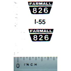 Decal 1/16 Farmall 826 Model Numbers