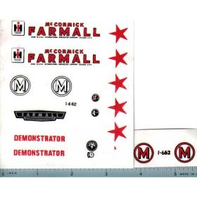 Decal 1/08 Farmall M Demonstrator Set (red print)
