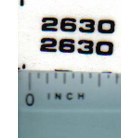 Decal 1/16 John Deere 2630 Model Numbers