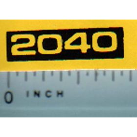 Decal 1/16 John Deere 2040 Model Numbers