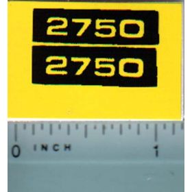 Decal 1/16 John Deere 2750 Model Numbers