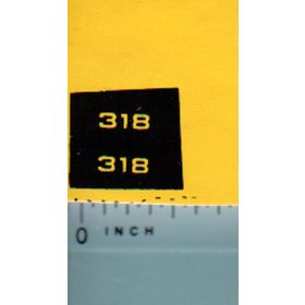 Decal 1/16 John Deere L&G 318 Model Numbers