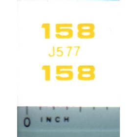 Decal 1/16 John Deere Loader 158 Model Numbers