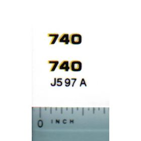 Decal 1/16 John Deere Loader 740 Outlined Model Numbers