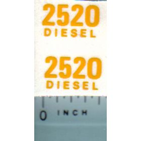 Decal 1/16 John Deere 2520 Diesel Model Numbers