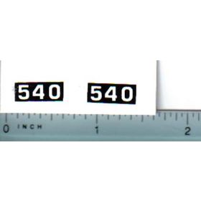 Decal 1/25 Massey Ferguson Combine 540 Model Numbers